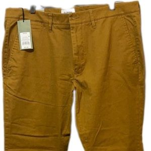 Good Fellow Chino Mustard Yellow 38x30 Men